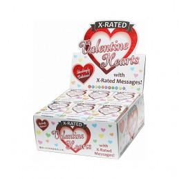 x bonbons en forme de cœur - présentoir 24 u.